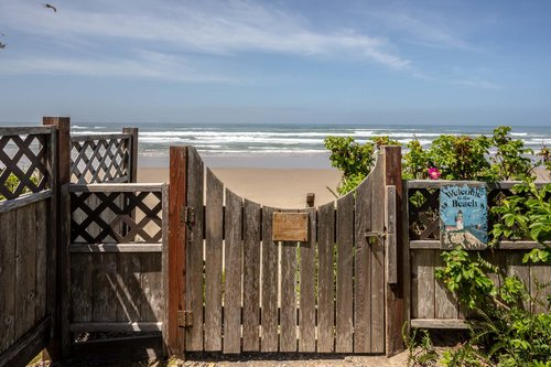 Private access to the beach from the front yard.