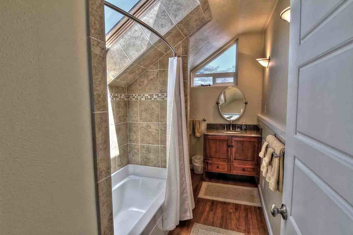 Master bathroom ensuite makes this a private retreat.