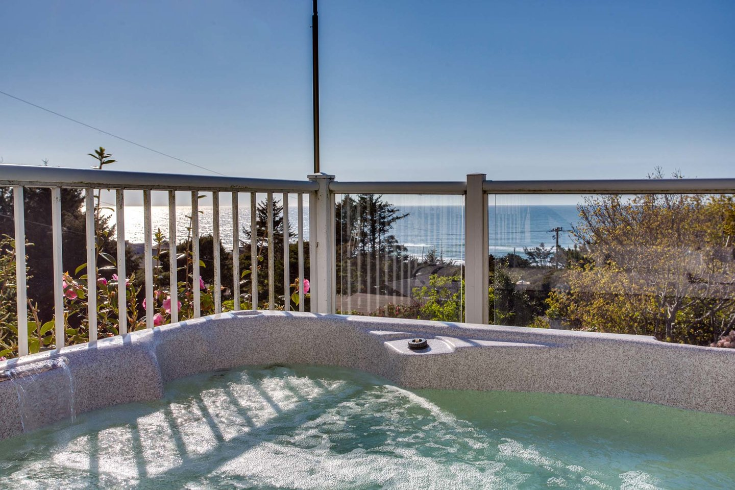 Ocean views from the hot tub.