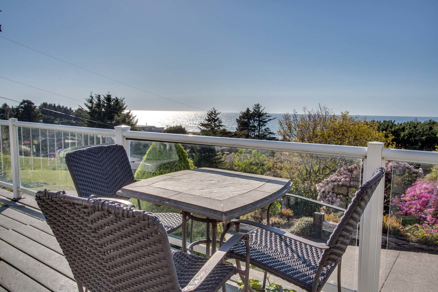 The ocean view is outstanding from every level on the deck.