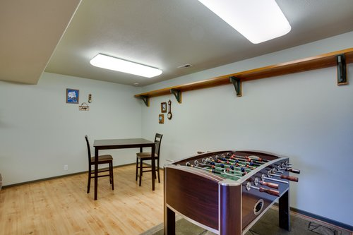 Game Room with game table and Foosball.
