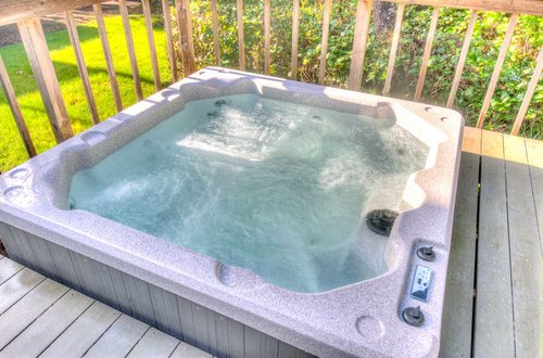 Sunken hot tub to relax in after a day of exploring!