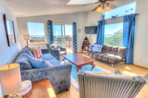 Bright and comfy living room for family gatherings.