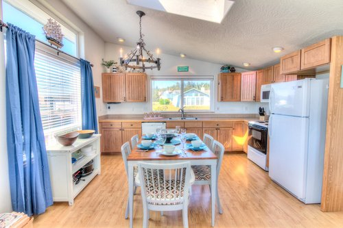 Open and spacious kitchen allows for the entire family to participate in meal prep!