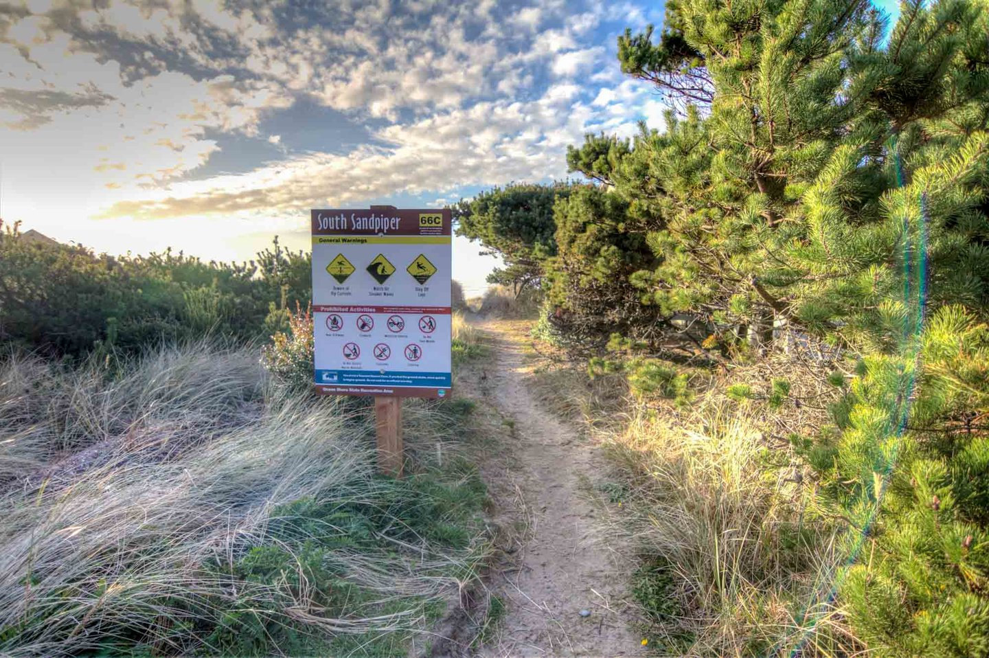 It is a short walk to the beach access.