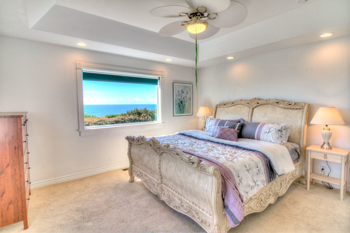 First floor bedroom with ocean views.