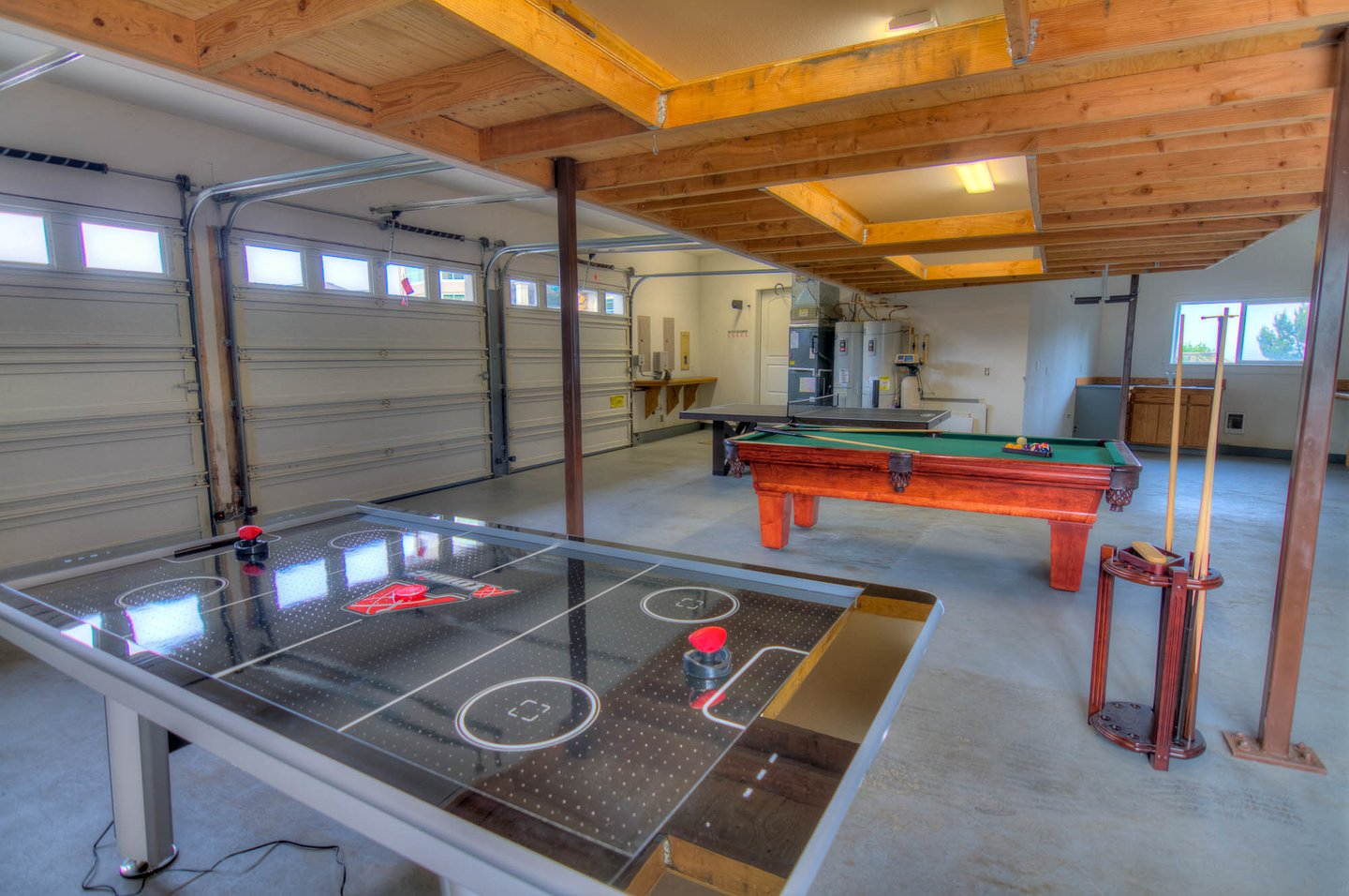 Air Hockey, Ping Pong and pool to entertain you and all your guests.