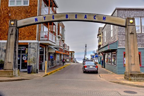 Historic Nye Beach has shops and restaurants to explore.