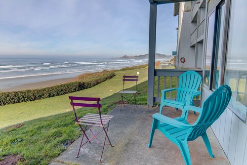 Take time to whale watch while enjoying the patio right out the sliding glass door.