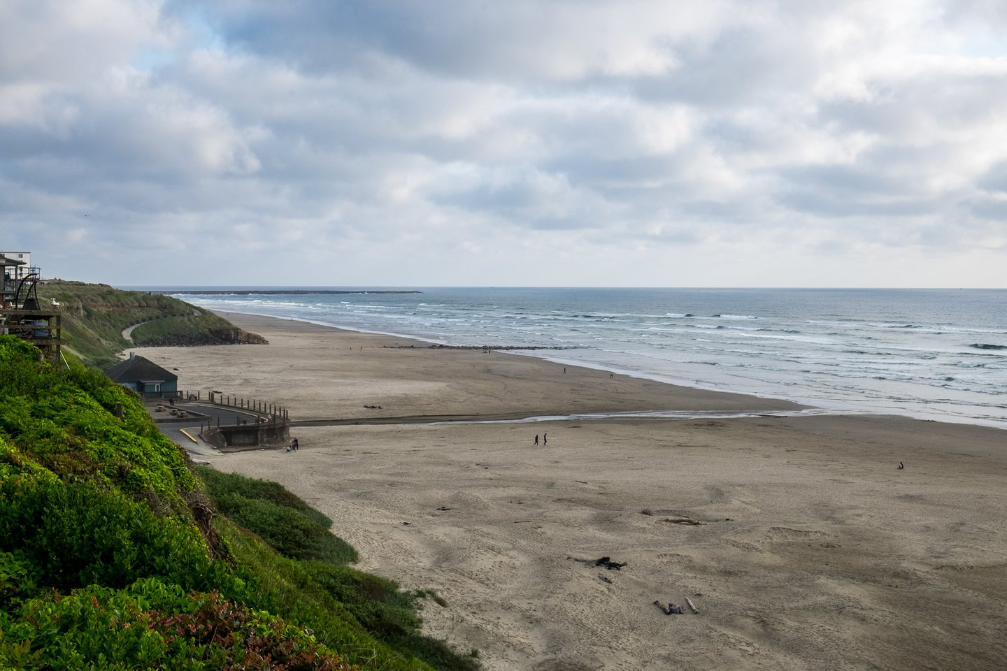 Take a walk along the beach and pass by historic Nye Beach turnaround.