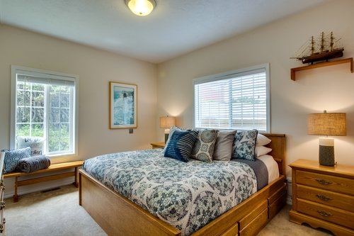 Enjoy the comfort of this king bed in one of the entry level bedrooms.