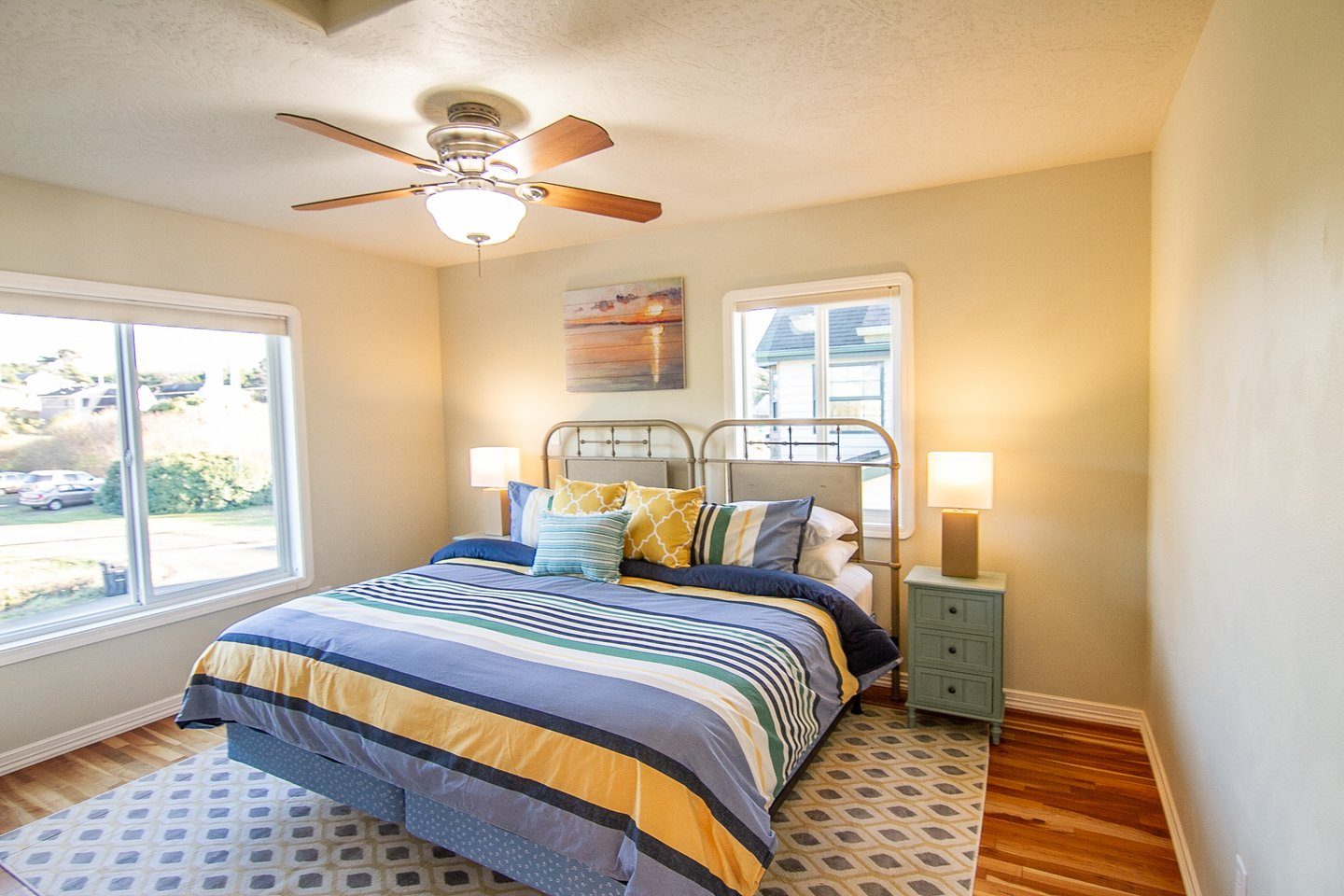 The third bedroom upstairs lets in lots of natural light.