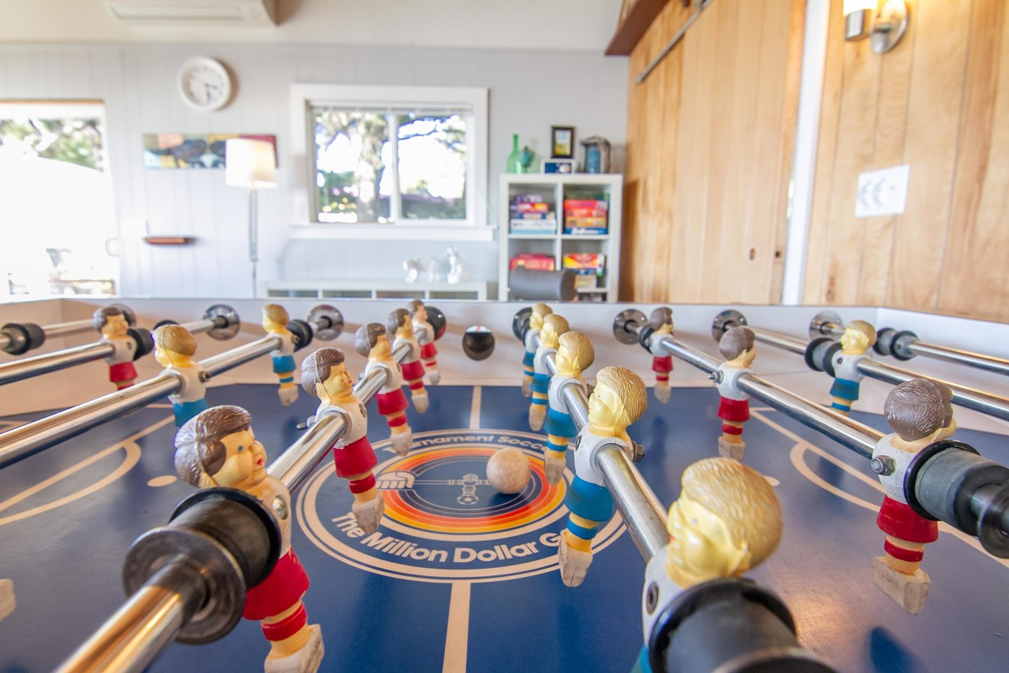 Heat up some friendly competition with a game of foosball.