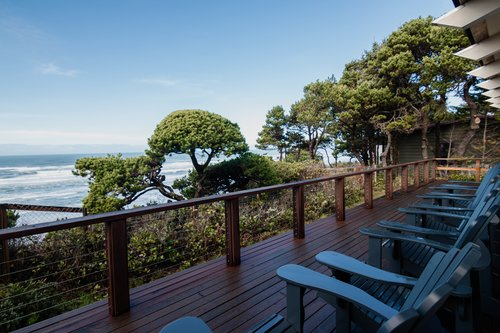 Relax outside on the large deck while you watch the ocean.