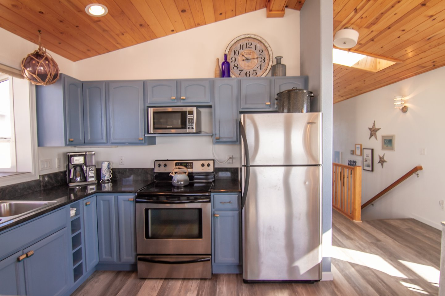 Stainless steel appliances are perfect for the family chef.