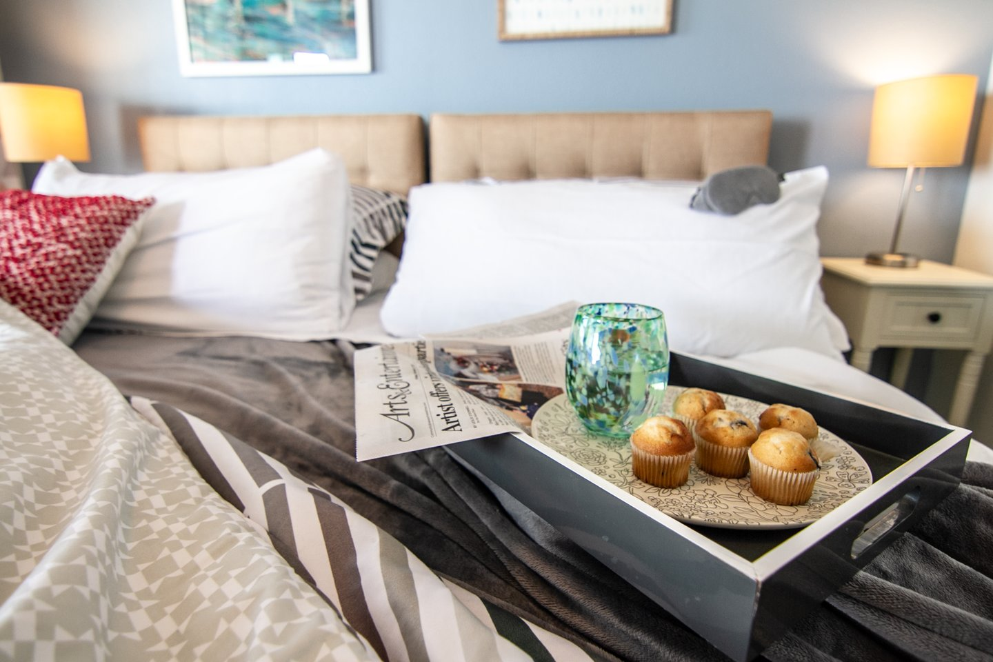 You can't beat breakfast in bed while listening to the waves.