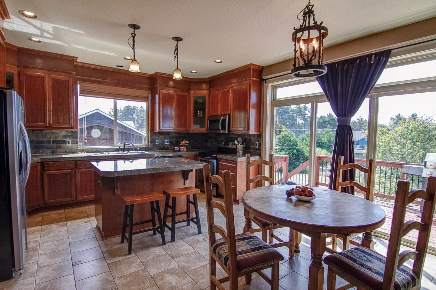 There is plenty of room for the whole family to cook and dine together.