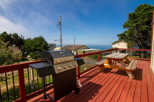 Grill your fresh catch and have dinner on the deck.