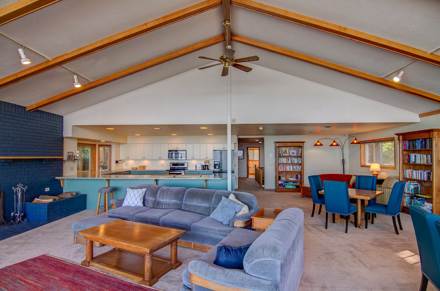 The open concept is perfect for your friends and family to spend time together.