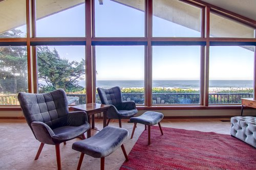 Sit back and watch the ocean from any seat in the main living area.