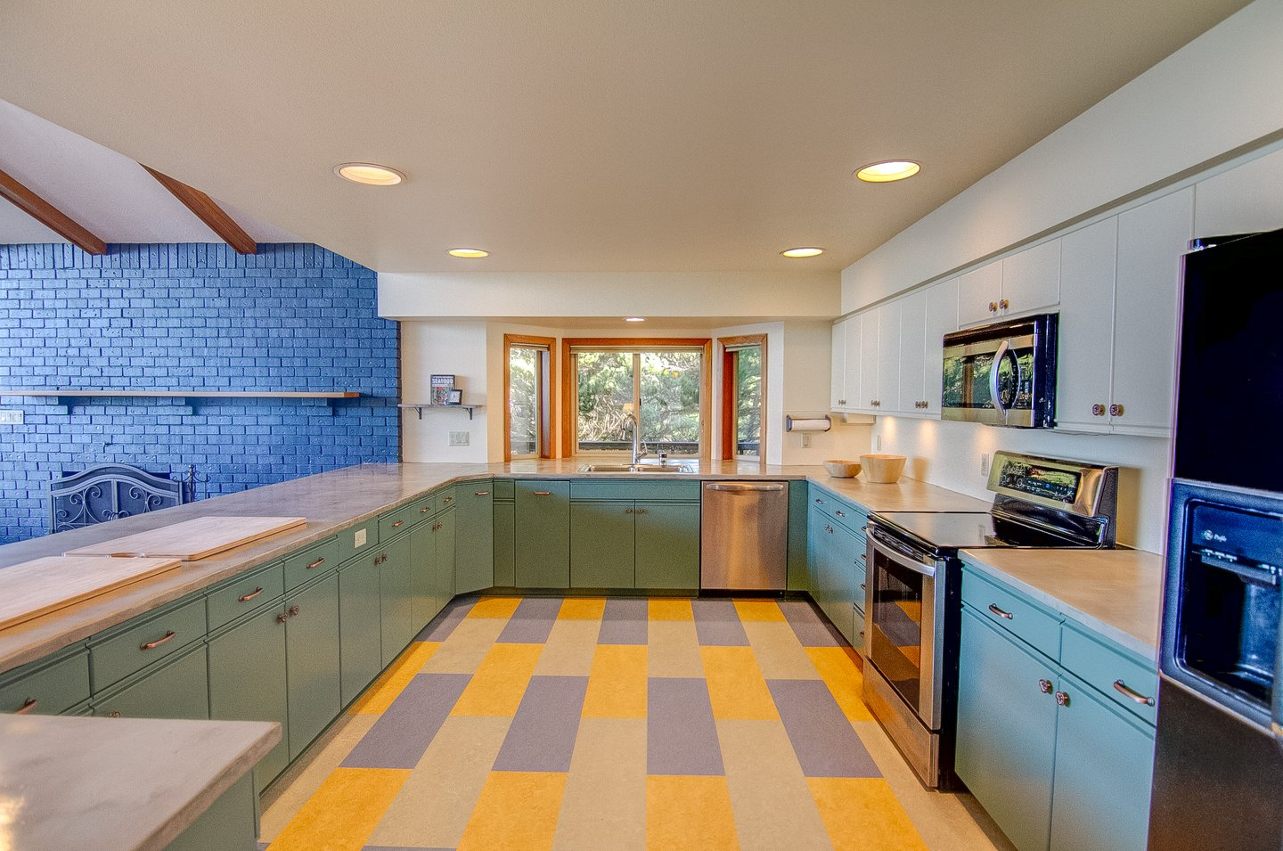 An open and bright kitchen is a dream come true for the family chef.