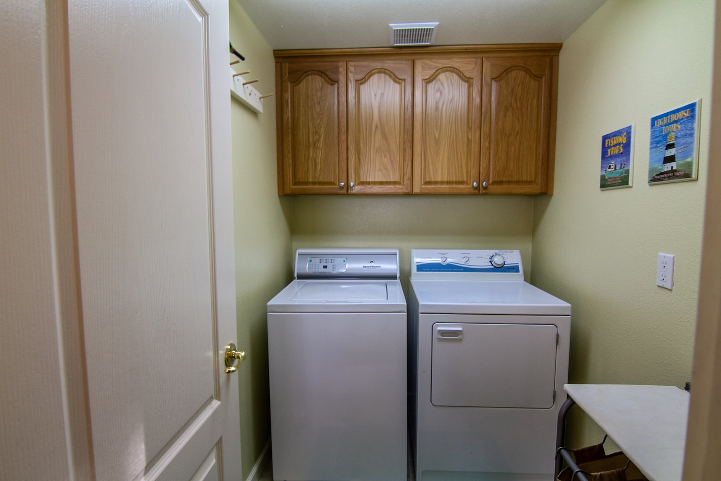 Wash and dryer are in house for your convenience.