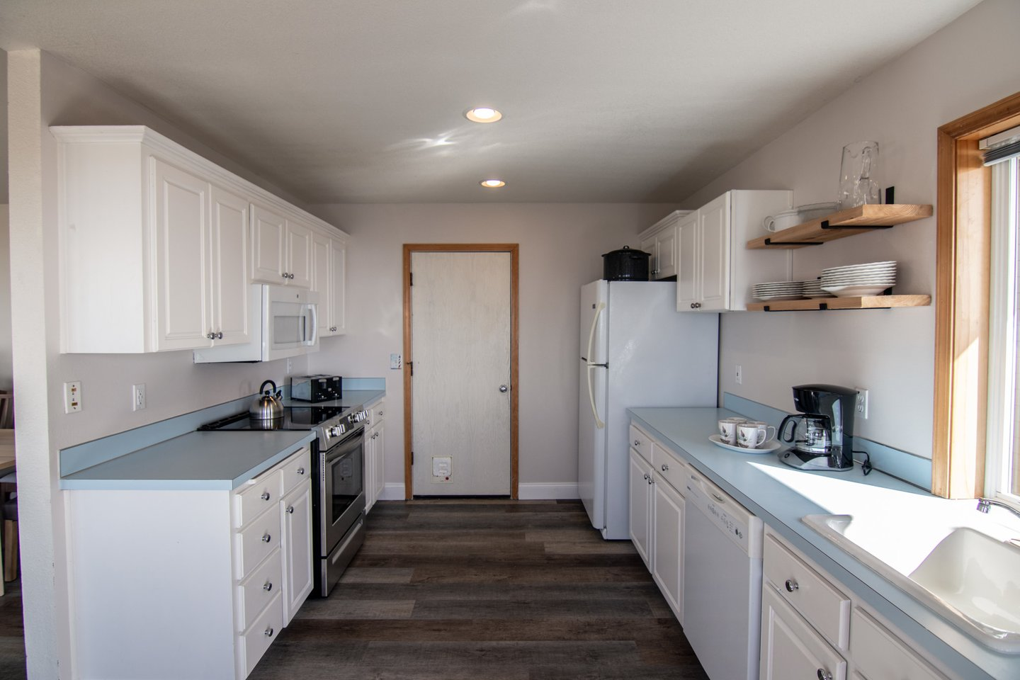 The family chef will love cooking dinner in the well-appointed kitchen.